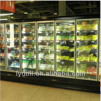 Glass Door display refrigerator, supermarket display freezer