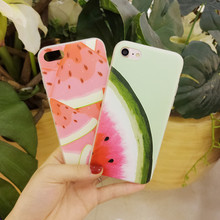Hybrid Acrylic TPU Bumper Cell Phone Fruit Case for iPhone 8 plus for iPhone 7 Case Watermelon