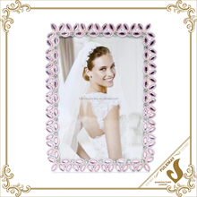 Bling bling Rhinestone metal picture photo frame type latest design