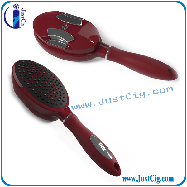 High-Quality self cleaning folding hairbrush for travel people self cleaning hair comb