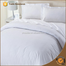White Cotton Jacquard 300 TC Hotel Bedding Set