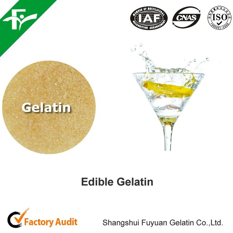 China factory supply edible gelatin / food grade gelatin for wine and juice fining