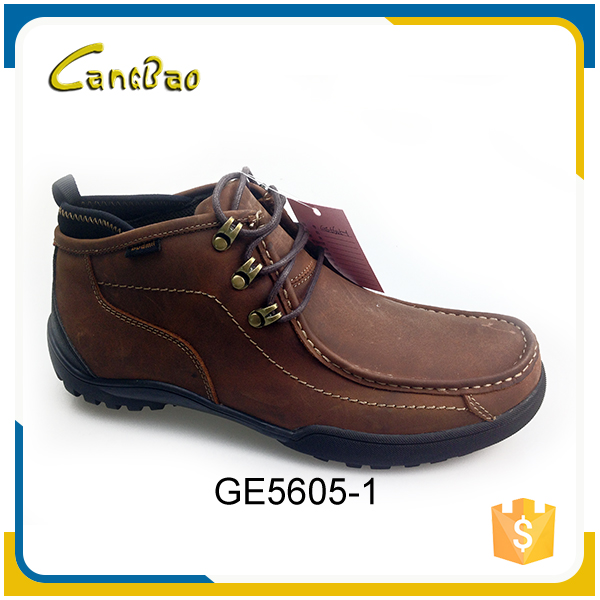 Wholesale genuine leather lace-up men durable low price boots