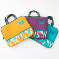 Colorful 11.6 inch neoprene laptop bag