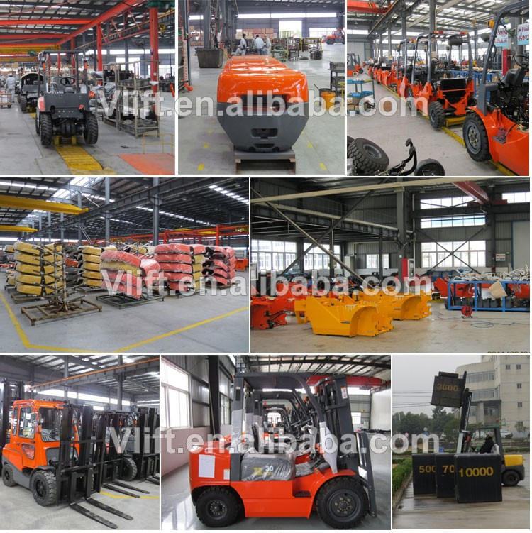 3 ton 4.8m electric forklift truck with 3 stage 4.8m full free mast