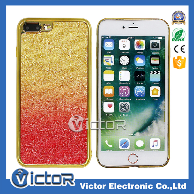 guangzhou victor wholesale cell phone case electro plating TPU cover for iphone 7
