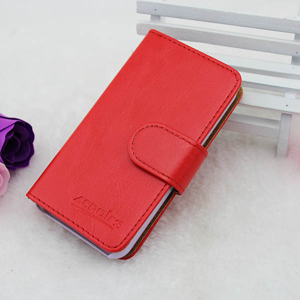 Mobile phone leather flip case for lenovo s820