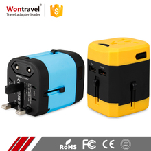 Wontravel Brand Dual USB Universal Travel Adaptor Safety Charger Power USB AC / DC Adapter