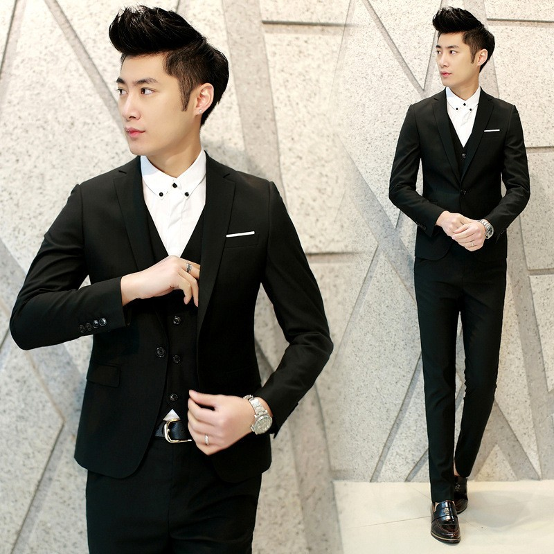 Formal Wear Pant Coat Design Men Slim Fit Black Wedding Suits Of Pictures