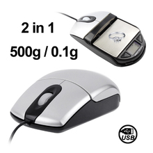 In stock hot sale 2 in 1 USB Port Optical Mouse + 500g x 0.1g Electronic Pocket Scale from china with fast delivery