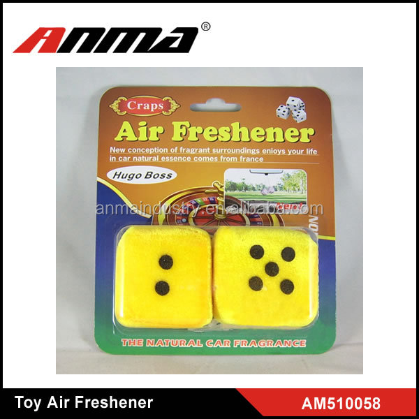 HOT SALE ! ANMA high quality toy car air freshener , dice car air freshener