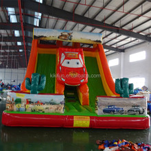 Commercial Giant Car Shape Inflatable Bouncer Bus Inflatable Slide bouncy castle