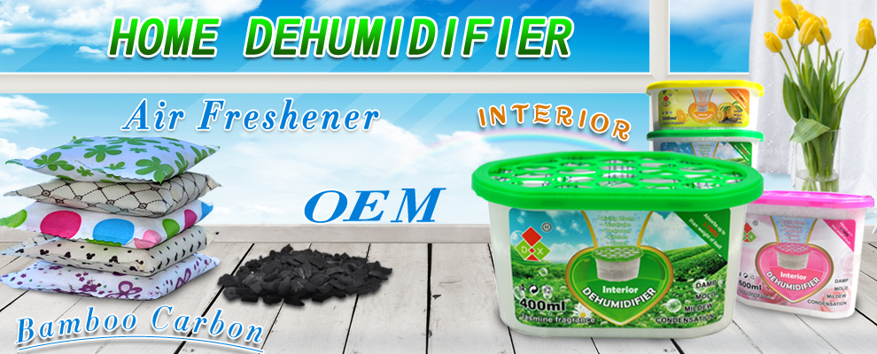 Exhibition selling refillable interior dehumidifier boxes made in Dongguan