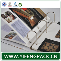 Guangzhou factory colourful prinring cardboard A4 A3 D-ring binder wholesale