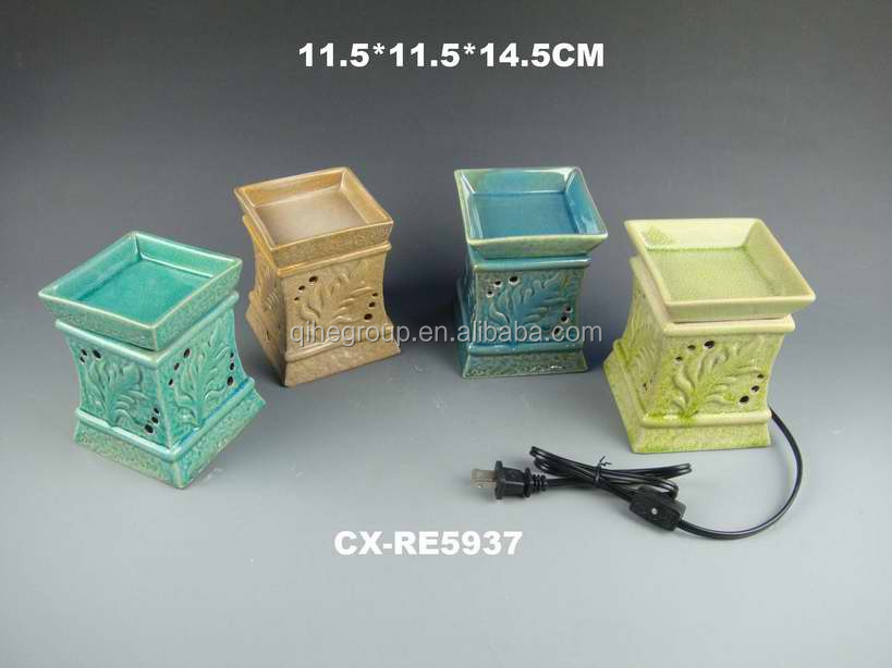 Square shape Electric Ceramic Scented Wax Warmer Light