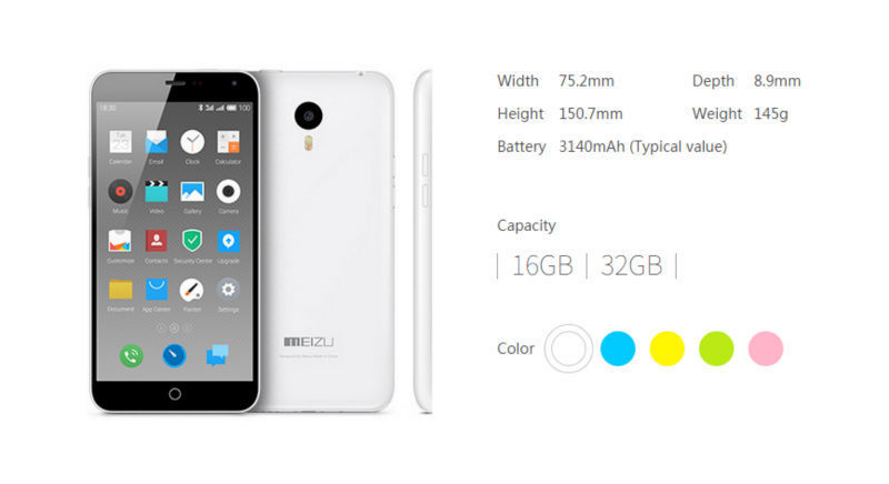 "Original Meizu M1 Note 4G FDD LTE Mobile Phone Dual SIM 5.5"" 1920X1080P MTK6752 Octa Core 13MP Android 4.4 Noblue Note In Stock"