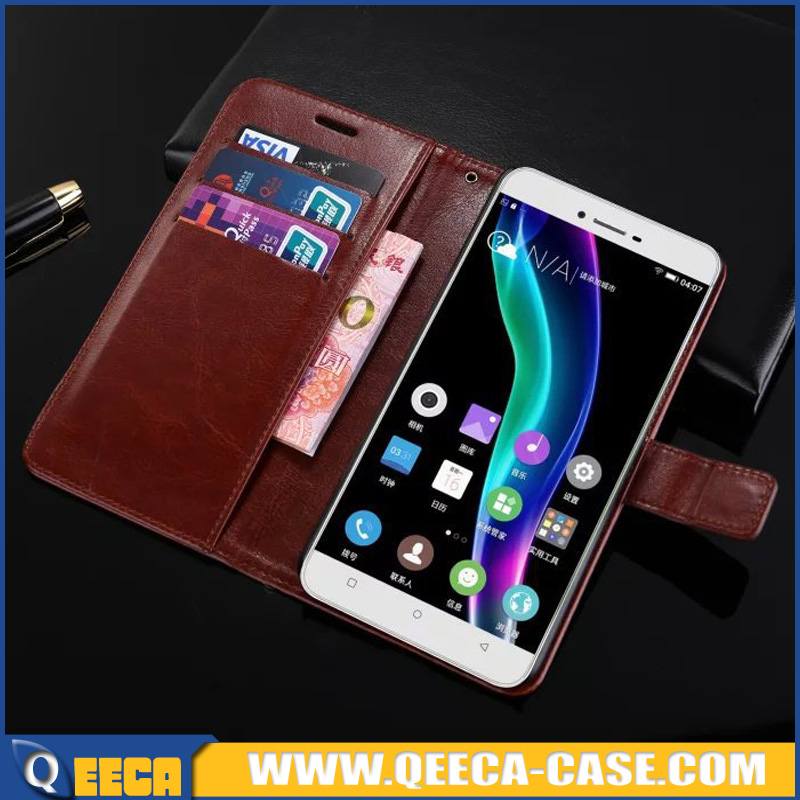 Luxury magnet PU leather case Wallet design card slot stand case flip cover for gionee s6