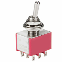 Medical Equipment Toggle Switch,5A 125VAC ON-ON 9PIN DPDT Miniature Toggle Switch