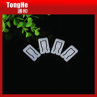 Square Shape White Plastic Shirt Collar Clips For Garment Accessories