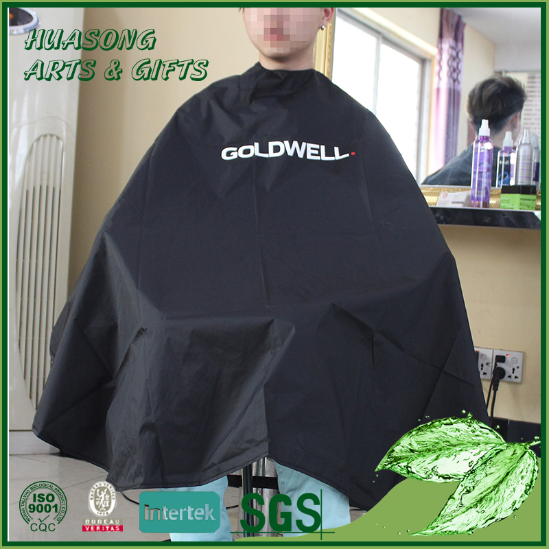 Custom designed waterproof hair dressing capes,hair cutting cape salon capes