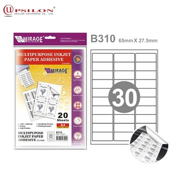 Blank Inkjet Private Label For 3x10 Sections 30Grids