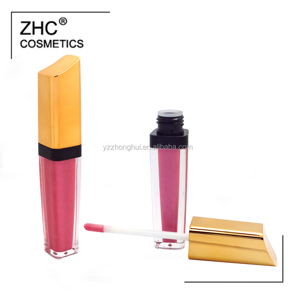 CC36041 Waterproof Feature matte lip gloss packing in high quality plastic material lip gloss tube