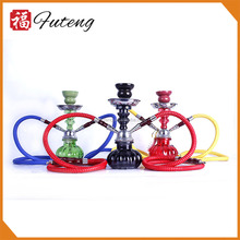 Factory price 25CM shisha 2 hose custom Mini zinc hookah