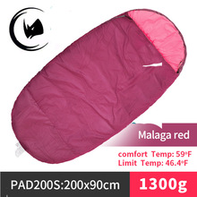 Camping outdoor wholesale sleeping bags Adult Envelope high quality Cotton Sleeping Bag with carry bag