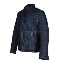 Size L-4XL Synthetic Leather Fabric Polyester Sleeve Men Jackets in Jackets