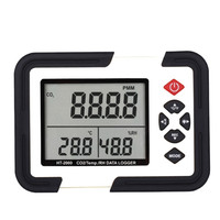 Newest temperature and humidity co2 controller temp/rh data logger temp/humidity with lcd display usb (ht-163)