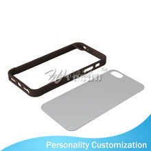 For Iphone 5 Sublimation Blank Phone Case 2D fashion phone aluminum metal bumper case