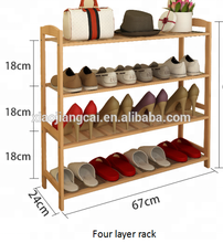 4 layers easy installed cheap shoe rack