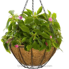 metal wire welded hanging basket flower mesh planter for garden decor