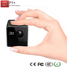 UNIC P1+ Mini Micro Module Wifi Built-in DLP Battery Powered Mini LED Projector for Mobile Phones