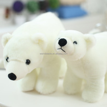 Promotional soft plush stuffed white polar bear