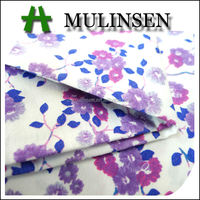 Mulinsen Textile Woven Poplin Flower Printing Italian Cotton Fabric for Garments
