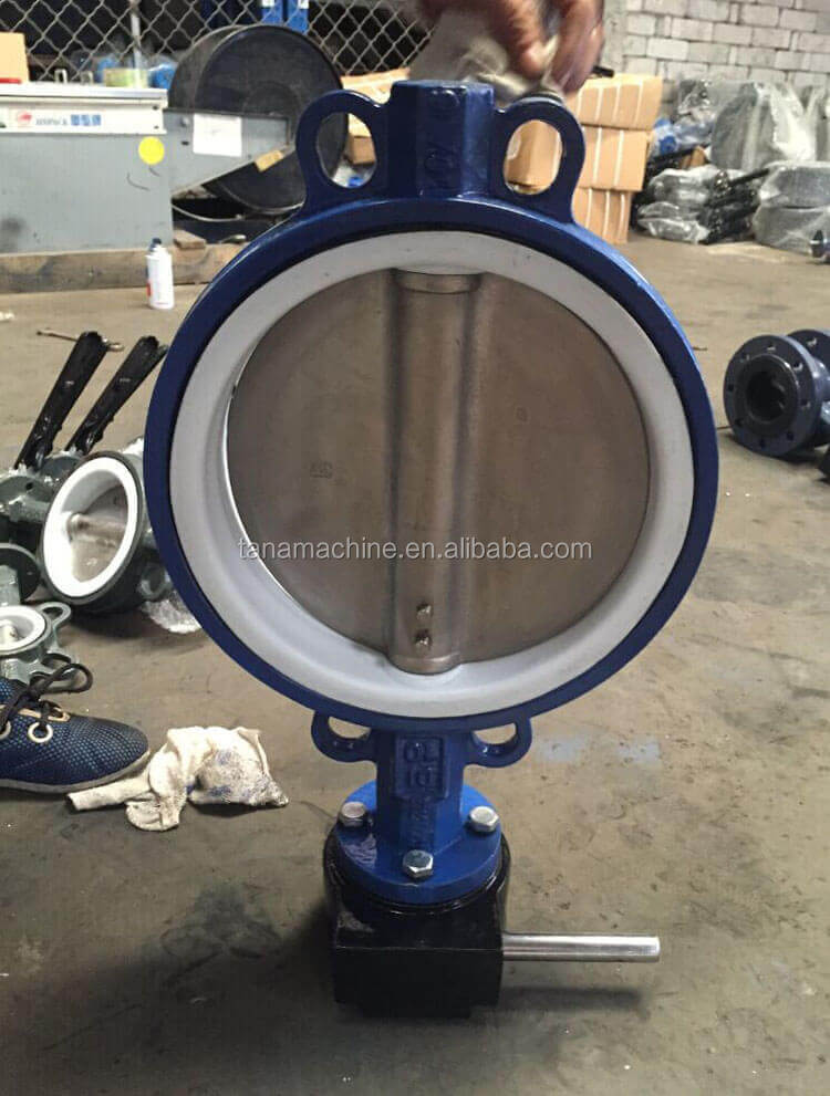 wafer type cast iron butterfly valve dn250 Pn10 pn16 with handles