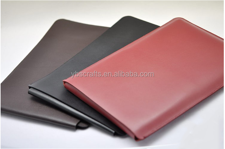 personalized logo miscrofiber leather laptop case table sleeve bag