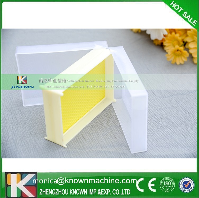 Plastic transparent comb honey box/honey packing box