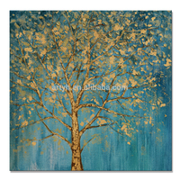 Hot Sell Hand Painted Tree Designs Contemporary Painting for Home