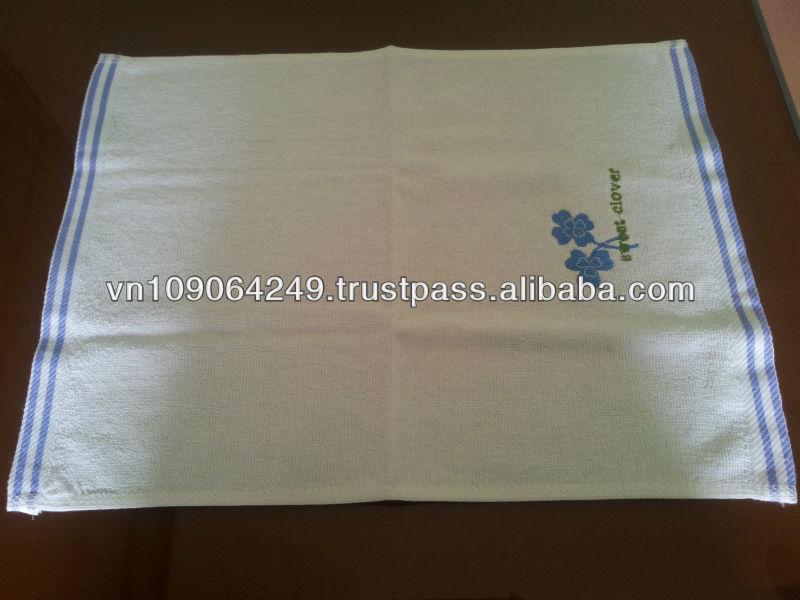 100% Organic cotton solid color embroidery towels for whole sale