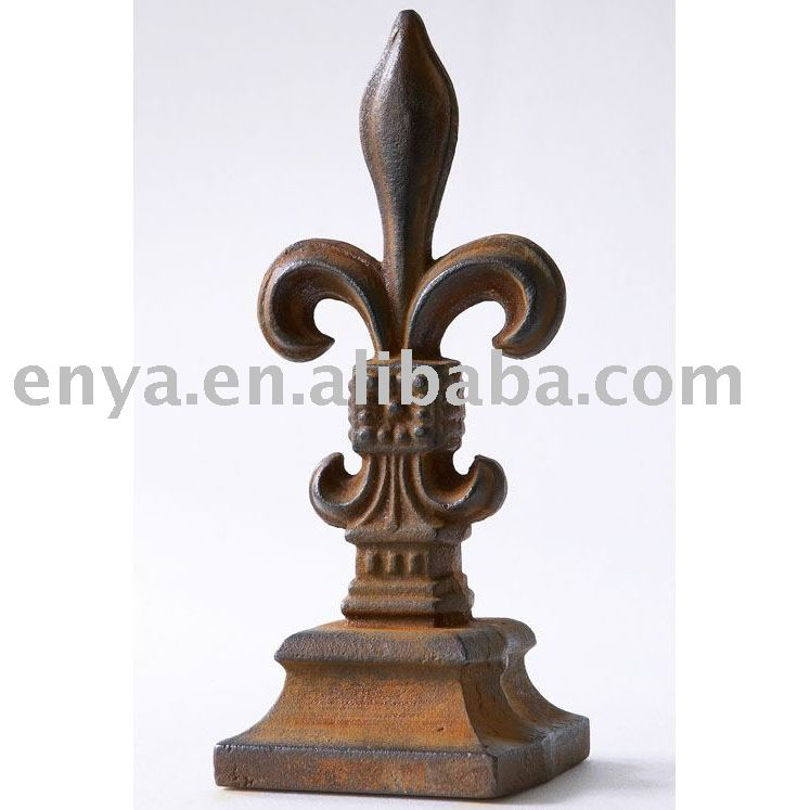 Cast Iron Spearhead Finial, Metal/Iron Crafts, Garden ornament/decoration