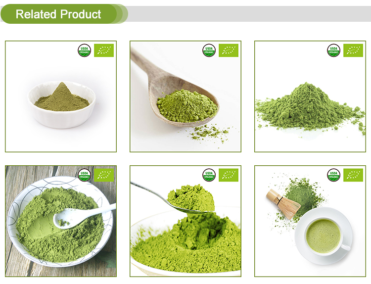 Food Grade Beverage Material Japanese Green Tea Extract Powder