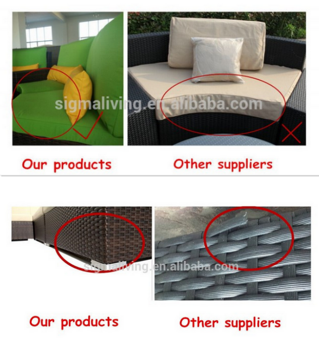 Wholesale outdoor furniture simple rattan dining armless chair