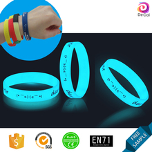 Glowing In Dark Silicone Wristband with any text logo Custom CHEAP Bracelet from bands manufacturer
