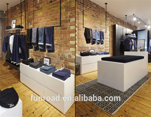 Modern fasionable garment shop interior design for men clothes