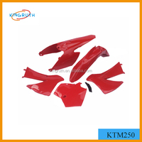 KTM250 red color motorcycle fairing parts