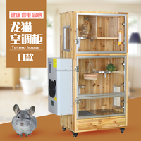 Pet air conditioner for wooden chinchilla house