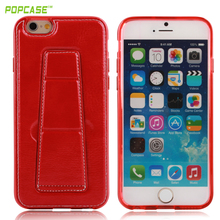 The best TPU and PU material red color leather phone case with cheap EX-work price