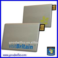 Custom Logo Name Card USB Flash Memory 2.0